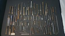 100 Plus Lot of Old Chisels Punches ETC Mostly USA Custom Modified Chisel Punch
