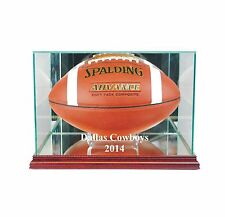 Dallas Cowboys 2014 Glass Football Display Case FREE SHIPPING UV Made in USA