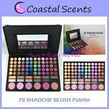 NEW Coastal Scents 78 Eye Shadow & Blush Palette FREE SHIPPING Makeup Powder NIB