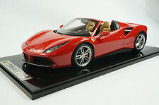 1/12 BBR FERRARI 488 SPIDER IN COLOR ROSSO CORSA LIMITED 5 PIECES N MR