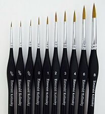 Emerald Art Supply Best Professional Siberian Kolinsky Sable Detail Paint Brush,