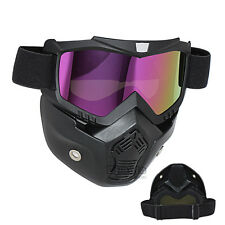 UV Lens Flexible Goggles Glasses Face Mask Motorcycle Riding Dirt Bike Safety