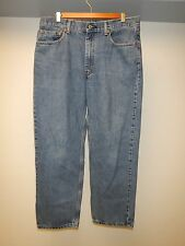 (J125) Men's LEVI'S 550 RELAXED FIT TAPERED LEG Sz 34x29 Blue Cotton Denim Jeans