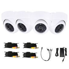 Lot4 1300TVL 24IR-CUT 6mm Waterproof HD Night Vision Indoor Camera + 60ft Cables