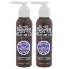 2x FAMOUS DAVE'S MOISTURE TAN FAKE TANNING LOTION SELF TANNER 118ml, total 236ml