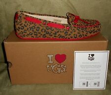 UGG WOMEN'S I HEART BELLE CHESTNUT LEOPARD SLIPPER/SHOE SIZE 7 NEW IN BOX