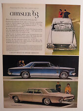 1963 Chrysler 300 J Convertible, New Yorker, Newport Ad - Must See !!