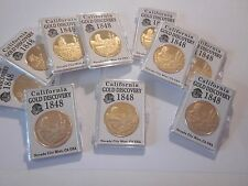 CALIFORNIA GOLD RUSH 1848 GOLD DISCOVERY COMMEMORATIVE COINS #703