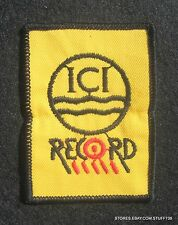 """ICI RECORD PAINT EMBROIDERED PATCH IMPERIAL CHEMICAL INDUSTRY BRITISH 2"""" x 3"""""""