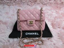 Worn out /Read Listing Shortened Chain CHANEL Pink 2.55 Mini Caviar Flap Bag