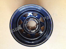 "Sunraysia 15"" - 6 STUD LANDCRUISER RIM BLACK- ! Trailer Parts"