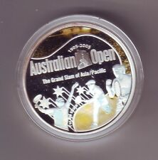 1905 - 2005 Australian Open $1 Silver Proof Coin Grand Slam Tennis 100 Years
