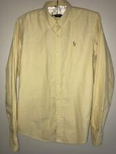 WOMENS RALPH LAUREN OXFORD SHIRT SIZE 8 SLIM FIT YELLOW BUTTON DOWN PREPPY