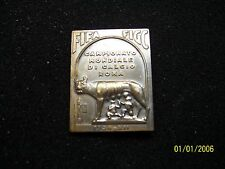 World cup 1934 official silver pin badge