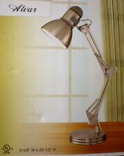 Architect Lamp - Satin nickel finish with metal shade, adjustable arm & head