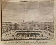 MADRID. Plaza Mayor. Grabado original, Salmon,1745