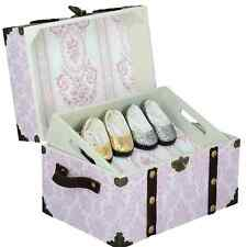 "PINK STEAMER TRUNK For 18"" American Girl Doll Clothes,Shoe & Accessory Storage"
