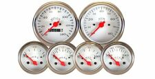 VEETHREE WHITE 6 GAUGE MECHANICAL SPEEDOMETER KIT HOTROD / STREETROD