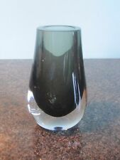 Whitefriars - Geoffrey Baxter - Teardrop Vase - Smokey Brown