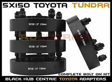 "4 Pc Black 1.5"" Toyota Tundra 5x150 Hub Centric Wheel Spacers Adapters USA Made"