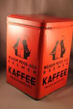 Große Alte Kaffeedose Blechdose Wilhelm Meyer-Hild BREMEN Kaffee Werbung Selten!