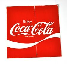 Coca Cola Coke Sticker 10 x 10 cm USA 1970s Sticker Decal - Enjoy Logo