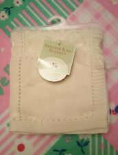 "NWT Organic 100% Cotton Sweater Knit Blanket, Natural 40"" x 30"""