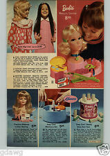 1972 PAPER AD Toy Beauty Center Barbie Wig Shag Kenner Manicure Easy Curl Makeup