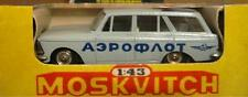 """USSR MADE  1/43 scale MOSKVITCH ESTATE CAR in """"AEROFLOT"""" LIVERY MINT & BOXED"""