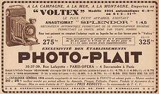 Y7084 PHOTO-PLAIT - Appareil Voltex - Pubblicità d'epoca - 1934 Old advertising