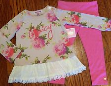 JUICY COUTURE ORIGINAL BABY GIRLS BRAND NEW 2Pc DRESS LEGGING SET Sz 3-6M, NWT