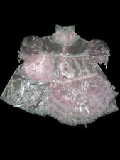 ADULT SISSY BABY FRILLY RUFFLES BABY DRESS SET baby pink