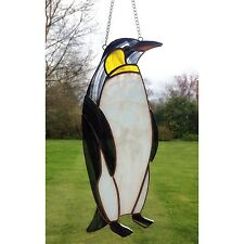 HANDMADE Stained Glass Penguin  Sun catcher Tiffany Glass Multi Coloured, Gift