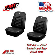 1968 Chevy Camaro Deluxe Front & Rear Seat Upholstery Black,IN STOCK!!! TMI