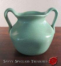 Gorgeous Early Haeger? Green Geranium Glaze Pinch Pottery Vase with Handles