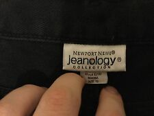 "NWOT Newport News  Jeanology Size 12 32x28 32""/28"" Black 100% Cotton Flare Jeans"