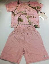 AP Pink RealTree Mini Toddler Puff Sleeve T-shirt and Shorts Outfit 5T