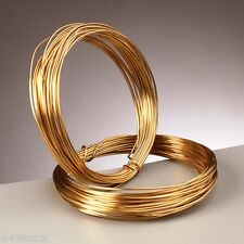0.8 mm (20 gauge) 24k GOLD PLATED CRAFT/JEWELLERY WIRE x 6 metres
