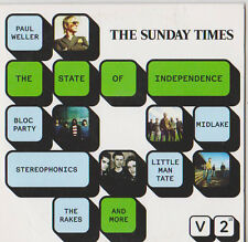 THE STATE OF INDEPENDENCE PROMO CD PAUL WELLER BLOC PARTY STEREOPHONICS RAKES