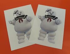 x2 Ghostbusters Ghost buster Marshmellow Man 85mm tall Sticker Vinyl