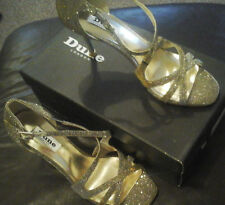 dune marilyn ladies  sandals gold metalic odd sizes right foot 5 left foot 6
