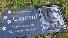Memorial Headstone 6x12 human grave marker Dog Cat Pet Temporary marker Stone