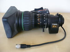 "Canon J16ax8B4 IRSD SX12 2/3"" broadcast ENG zoom lens with 2x Extender, Fujinon"
