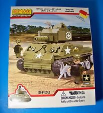U.S. Army TANK Best-Lock Construction Toys 160 pieces New Sealed Works with LEGO