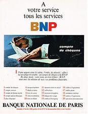 PUBLICITE ADVERTISING 035  1967  BNP   banque  le compte de chéques