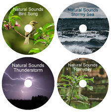 4 NATURE CD's RELAXATION SLEEP STRESS RELIEF HEALING NATURAL SOUNDS MEDITATION