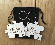 Personalised Wooden Jigsaw Puzzle Key rings Anniversary, Wedding gift Birthday