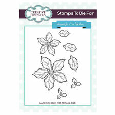 Stamps To Die For - Sue Wilson - Shaded Poinsettia Additions- Christmas - UMS727