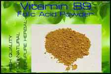 High Quality!! Vitamin B9 /  Folic Acid Powder 25 grams