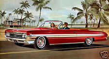 1961 Oldsmobile Starfire Convertible, RED, Refrigerator Magnet, 40 Mil